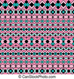 Art Deco Pattern in Pink