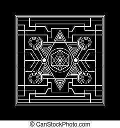 Art deco sacred geometry