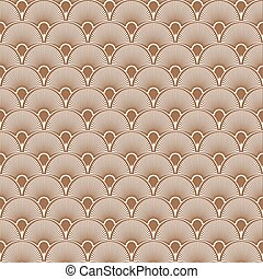 Art Deco Seamless Pattern Background. Vector