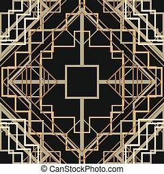 Art Deco Seamless Pattern Background. Vector