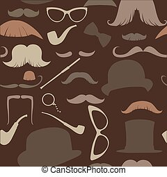 seamless pattern in retro style