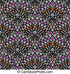 Art deco seamless vector floral pattern - Texture for web,...