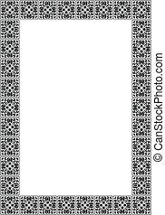 Art deco simple vector frame