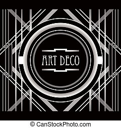 Art Deco style abstract geometric frame.