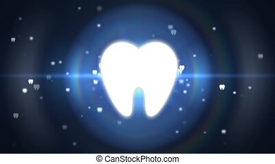art dentaire, sain, pain., sans, traiter, dents, teeth.