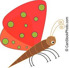 Art design cartoon butterfly