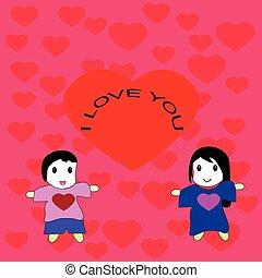 cartoon for happy valentine day