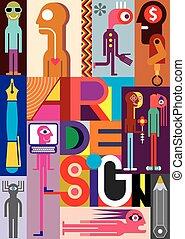 Art Design - vector illustration. Composition of various...