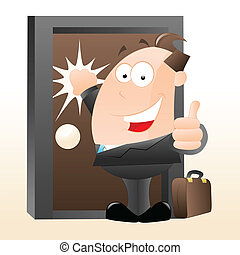 Cartoon Salesman - Art Design of Cartoon Salesman Vector ...