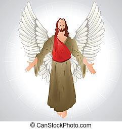 Jesus Christ with Wings