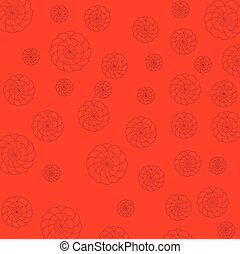 red and flower background