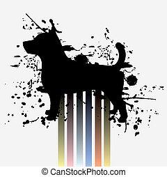 Art dog color