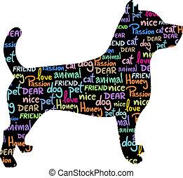 Art dog - Creative design of art dog