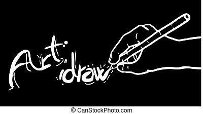Art draw hand