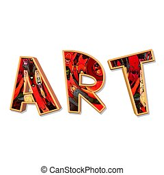 art - an illustration of the word art