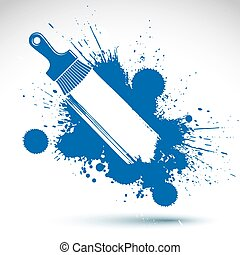 Your Text Here Art Drawn Funky Vector Illustration Created With Splashes And Inky Spots Decorative Colorful Wallpaper