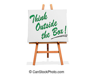 Art Easel Think outside the box cliche - Art Easel with...