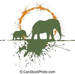 art elephant draw style