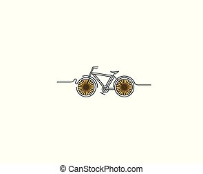 art fisso, illustration., disegno, moderno, vettore, ciclismo, linea