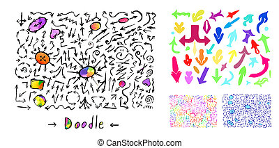 art, flèches, coloré