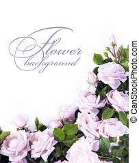 art, fleur, fond, pour, carte voeux