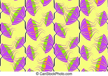 Art floral vector seamless neon pattern.