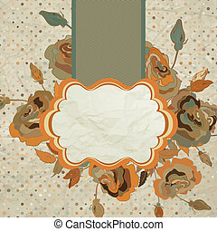 Art floral vintage colorful background. EPS 8