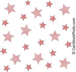 art, fond, étoiles, rouges