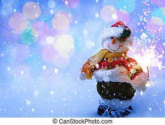 art funny Snowman Christmas card