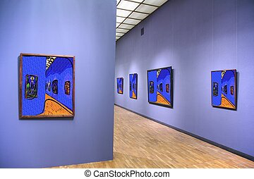 art gallery 4. All pictures on wall just filtered whole this photo