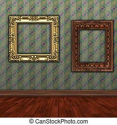 art gallery background