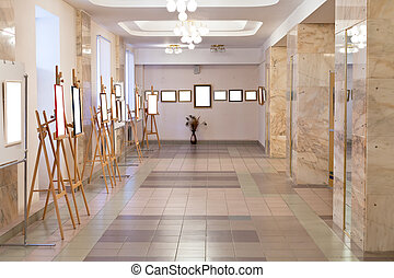 art gallery hall - simple art gallery hall with cut out...