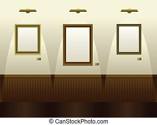 Art gallery - Gallery with blank frames ready for your art