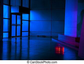 Art gallery in the night
