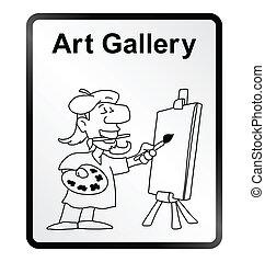 Art Gallery Information Sign