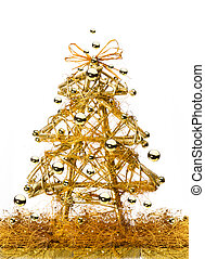 art golden Christmas Tree