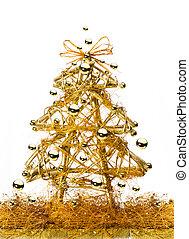art golden Christmas Tree