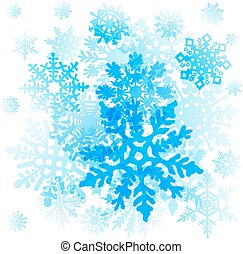art graphique, flocons neige, icons., vecteur, collection, noël