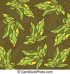 Art green pattern