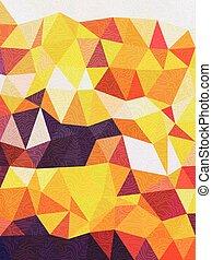 art, griffonnage, texture, fond jaune, ligne, triangles