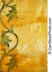 Art grunge Floral Pattern background