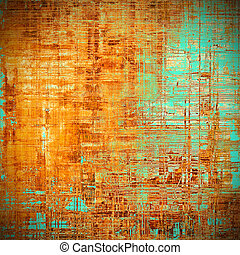 Art grunge texture for creative design or scrap-book. With vintage style decor and different color patterns: yellow (beige); brown; blue; red (orange); cyan