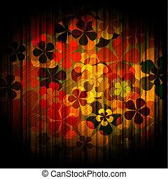 art grunge vintage floral background