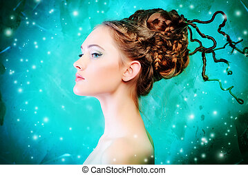 art hairstyle