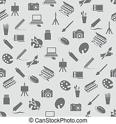 art icons seamless pattern