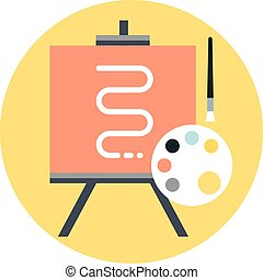 Art, illustration flat style, colorful, vector icon