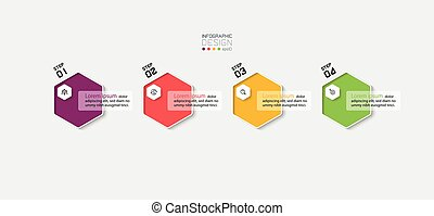 Hexagon infographic design presentation that can be easily understood through illustrated design.