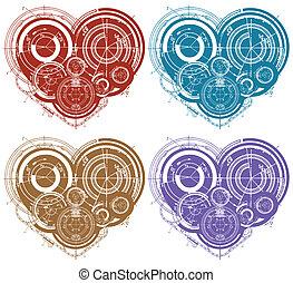 art illustration of hearts