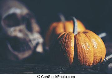 art, image, de, halloween, concept, sombre, vendange, espace copy, pour, usage