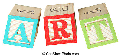 ART in Alphabet Blocks